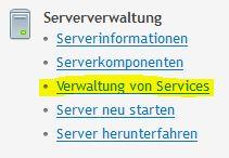 Verwaltung von Services