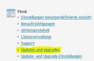 Updates und Upgrades