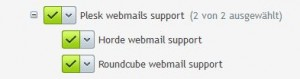 Horde webmail support