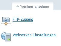 Webserver-Einstellungen
